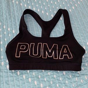 3/$20 Puma black and rose gold sports bra XS